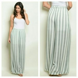 Pants - Farrah striped beach pants